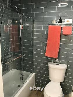 Ocean Glass 4x12 Subway Tile for Backsplashes, Showers & More BOX OF 11 SQFT