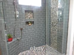 Ocean Glass Subway Tile 3x6 for Backsplashes, Showers & More BOX OF 11 SQFT
