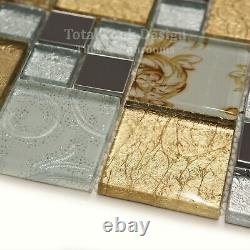 Onyx Gold Vintage Mix Squares Mosaic Tiles Sheet For Wall Floor Bathrooms