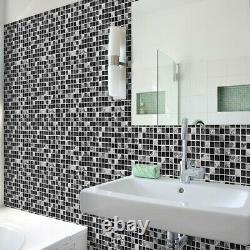 Peel And Stick Tile Vinyl Self Adhesive Wall Decor Kitchen Bathroom backsplash