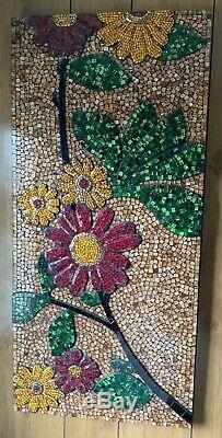 Pier 1 Glass Tile Mosaic Wall Hanging Picture Art Measurements 47 1/4 X 22