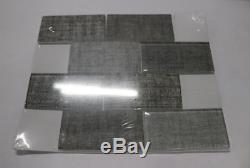 Qty 13 Mosaics Tektalia Glass Kitchen Bathroom Wall Backsplash Tile 3x6x8mm