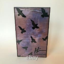 RARE RETAIL DISPLAY Houston Llew Spiritiles Glass Copper Wall Tile Bird Plaque