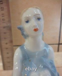 RIGA Young Ballet dancer Girl Lady Balerina USSR Russian porcelain figurine 4271