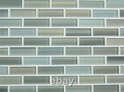 Reflections Hand Painted Glass Mosaic Subway Tiles Kitchen Backsplash/Bathroom