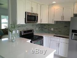 Reflections Hand Painted Linear Glass Mosaic Tiles Backsplash/Bathroom Tile