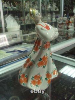 Russian girl in a kokoshnik dancer Soviet Russian porcelain figurine u1554