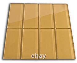 Sahara Glass Subway Tile 3x6 for Backsplashes, Showers & More BOX OF 11 SQFT