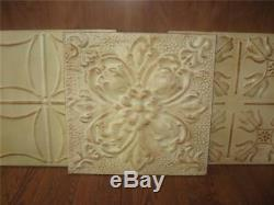 Set/3 Pottery Barn Stamped Ivory Metal Tilesnewwall Decorchristmasgift