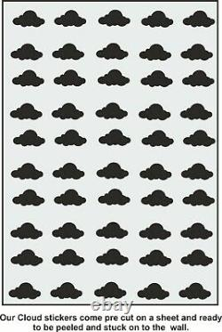 Set of Clouds PURPLE Wall Decal Cloud Wall Stickers for a Nursery Cloud Decals