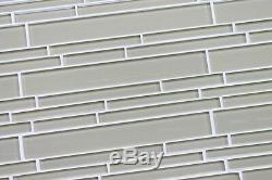 Sheep's Wool Beige Linear Mosaic Tiles Kitchen or Bathroom Tile