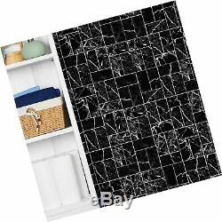 SkinnyTile 4406 Peel and Stick Marble Shades Glass Wall Tile (48 Pack), 6 x
