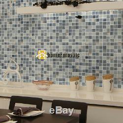Smoky color square glass mosaic tiles kitchen backsplash bathroom wall tile