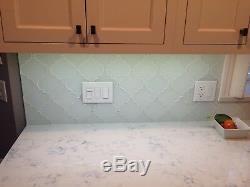Snow White Arabesque Glass Mosaic Tiles Kitchen Backsplash/Bathroom Tile