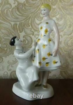 Soviet Girl Lady Woman and Seamstress Russian porcelain figurine 3417u