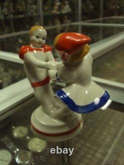 Soviet russian girls daning Vintage USSR russian porcelain figurine 1287u
