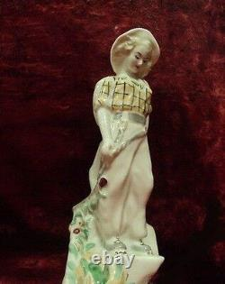 Soviet woman lady girl climber tourist USSR russian porcelain figurine 4497u