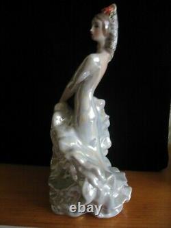 Spanisch folk dancer BOLERO Gypsy woman girl Russian porcelain figurine 1595u