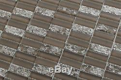 Sparkle Series TAUPE Small Subway Mosaic Tiles backsplash tile/bathroom tile