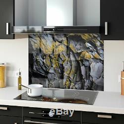 Splashback Glass Kitchen Tile Cooker Panel ANY SIZE Stone Rock Wall Texture 9178