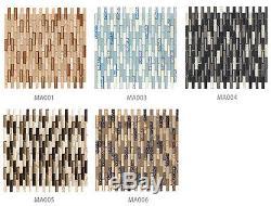 Strip glass mosaic tile kitchen bathroom swimming pool hotel bar villa wall tile