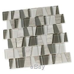 Trap Portobello Glass and Stone Mosaic Tiles Kitchen Backsplash/Bathroom
