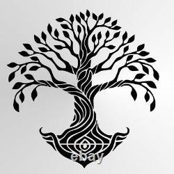 Tree of life Mandala VINYL WALL STICKER 56 Colours Bohemian Travel Art Treelife4