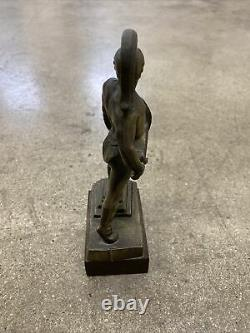 USC 1930s Vintage Roger Noble Burnham TOMMY TROJAN Spartan 7.5 Bronze Statue