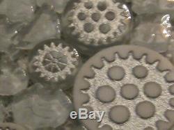 Unusual GEARS & Broken WINDSHIELD Glass Steampunk Floor Wall Mosaic Tile