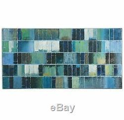 Uttermost-Glass Tiles 60 Modern Wall Art Hand Painted Oil Canvas