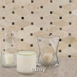 Valencia Blend Elongated Octagon 12 In. X 12 In. X 10 Mm Polished Marble Mesh-Mo