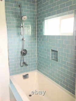Vapor Glass Subway Tile 3x6 for Backsplashes, Showers & More BOX OF 11 SQFT