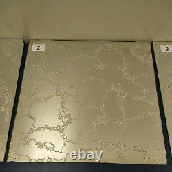 Vintage 60s 70s Silver/Chrome Foil Vein Mirror Glass wall tiles 12 x 12. Hobby