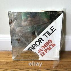 Vintage Mirro Tile Wall Mirror Squares 12x12 Gold Vein NOS Box of 12 Glas-Tile