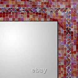 Wall Mirror Glass Mosaic'Sunset' Tile 18 x 24 in Handmade NOVICA India