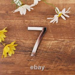 Wall Sticker Mirrored Effect 26 Alphabet Letters/Number Decor Acrylic Silver DIY