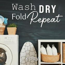 Wash Dry Fold Repeat Wall Sticker Quote Laundry Room Utility Decal Vinyl Words