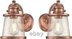 Westinghouse Emma Jane One-Light, Washed Copper Finish with Clear Seeded Glass 2
