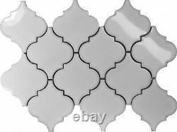 White Porcelain Moroccan Pattern Mosaic Tile Kitchen Backsplash Spa Wall