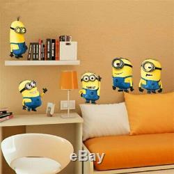 Yellow man movie wall stickers for kids rooms home decor cartoon wall decal